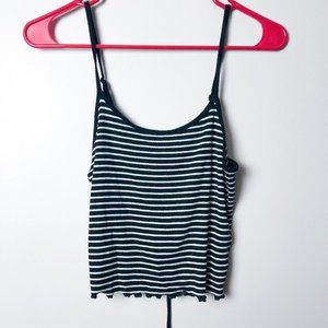 Ambiance Lace Up Back Cropped Tank Top